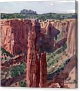 Spider Rock Overlook Canvas Print
