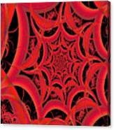 Spider Web Flame Fractal Abstract 793 Canvas Print