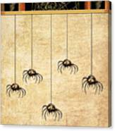 Spiders For Halloween Canvas Print
