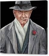 Spiffy Old Man Canvas Print