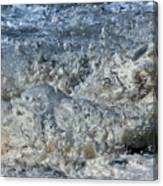 Spikey Frothy Splash Of A Momenary Water Sculpture Canvas Print