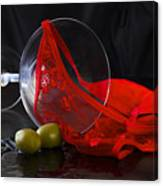 Spilled Martini With Red Panties Canvas Print