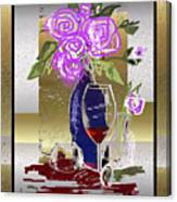 Spilled Wine Canvas Print