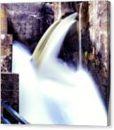 Spillway On The Canal Canvas Print