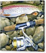 Spin Trout Canvas Print