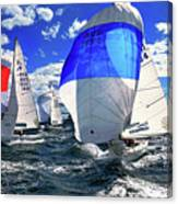 Spinnakers And Sails By Kaye Menner Canvas Print