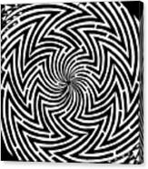 Spinning Optical Illusion Maze Canvas Print
