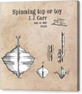Spinning Top Or Toy Patent Art Canvas Print
