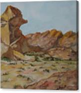 Spinx In The Valley Of Fire Canvas Print