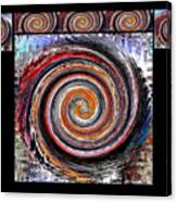 Spiral Frenzy Poster Canvas Print