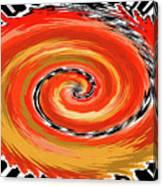 Spiral Of Fire Canvas Print