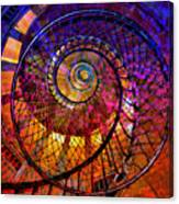Spiral Spacial Abstract Square Canvas Print