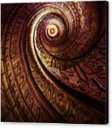 Spiral Staircase In An Old Abby Canvas Print