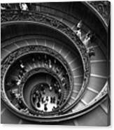 Spiral Stairs Horizontal Canvas Print