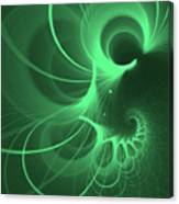 Spiral Thoughts Green Canvas Print