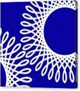 Spirals With Blue Canvas Print