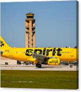 Spirit Airline Canvas Print