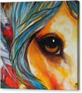 Spirit Eye Indian War Horse Canvas Print