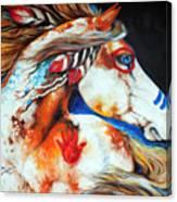 Spirit Indian War Horse Canvas Print