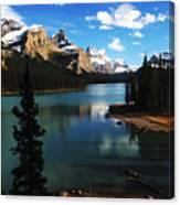 Spirit Island Jasper Canada Canvas Print