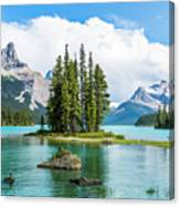 Spirit Island, Jasper National Park Canvas Print