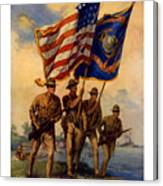 Spirit Of 1917 - Join The Us Marines  Canvas Print