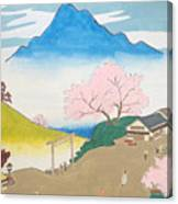 Spirit Of Shinto And Ukiyo-e In The Light Of Nature Canvas Print