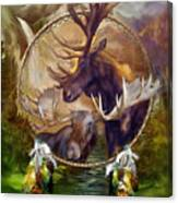 Spirit Of The Moose Canvas Print