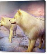 Spirit Of The White Wolf Canvas Print