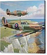 Spitfire And Hurricane 1940 Canvas Print