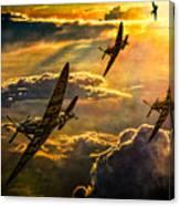Spitfire Attack Canvas Print