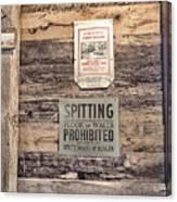 Spitting Prohibited Canvas Print
