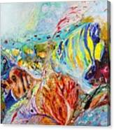 Splash Of Life #14 Red Sea  Canvas Print
