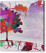 Splash Tree Art  Canvas Print