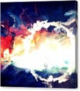 Splashed Sunset Canvas Print