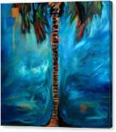 Splashy Palm Azure Canvas Print