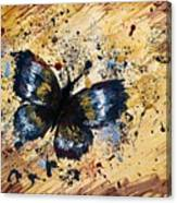 Splatter Butterfly Canvas Print