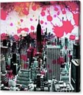 Splatter Pop Canvas Print