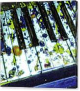 Splattered Keys Canvas Print