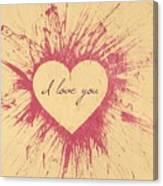 Splattered Love Canvas Print
