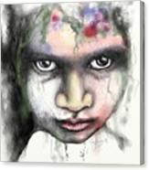 Splattered Stare Canvas Print