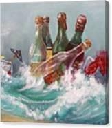 Splattered Wine Canvas Print