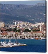 Split Croatia's Waterfront Canvas Print