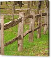 Split Rail Fence Canvas Print