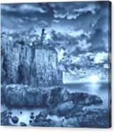 Split Rock Lighthouse Blue Canvas Print