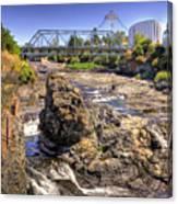 Spokane Falls Canvas Print