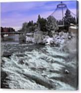 Spokane Pavilion Winter Canvas Print