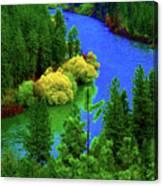 Spokane River Blues Canvas Print
