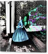 Spooky Historic Butterfly Dahlonega  Canvas Print