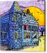 Spooky House Canvas Print
